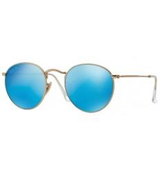 Gafas de sol RAY BAN 3447 ROUND METAL Gold Blue Mirror POLARIZADA