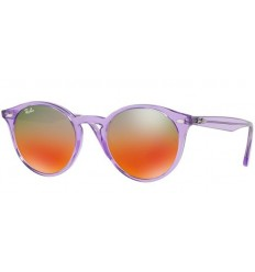 Gafas de sol RAY BAN R2180 ROUND Violet / Brown - Red Mirror