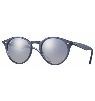 Gafas de sol RAY BAN R2180 ROUND Blue / Blue Silver Mirror
