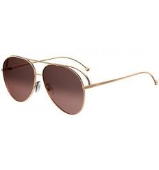 Gafas de sol Fendi Run Away Rose Gold - Brown Pink Shaded