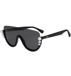 Gafas de sol Fendi Ribbons and Pearls Black - Dark Grey (807-IR)