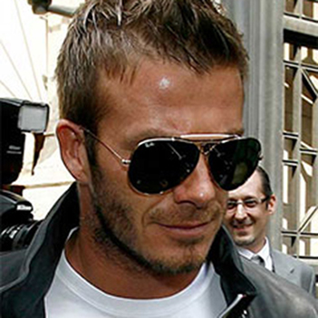David Beckham con sus Ray-Ban outdoorsman