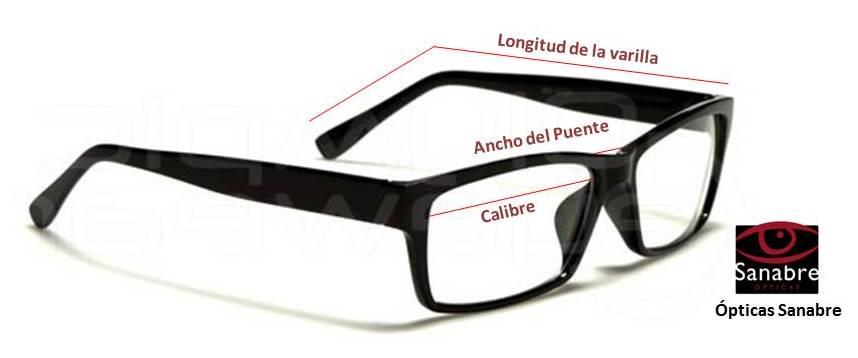 c0331724fd Medidas monturas gafas sol - guía del comprado en tienda online óptica  Sanabre