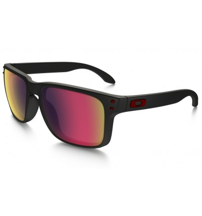 Gafas de sol OAKLEY 9102 HOLBROOK Matte Black / Positive Red Iridium