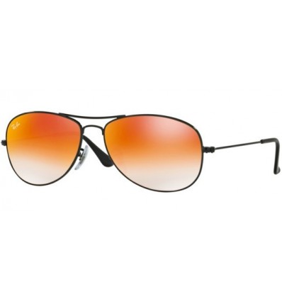 Gafas de sol RAY BAN RB3362 COCKPIT Shiny Black / Grey Orange Mirror