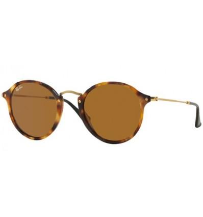 Gafas de sol RAY BAN R2447 ROUND FLECK Spotted Brown Havana