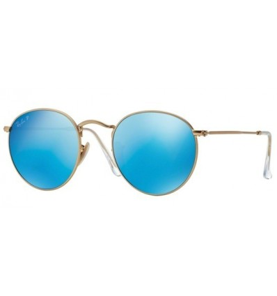 Gafas de sol RAY BAN 3447 ROUND METAL Gold Blue Mirror POLARIZADA