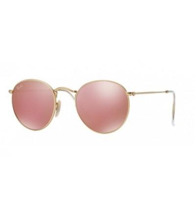 Gafas de sol RAY BAN 3447 ROUND METAL Matte Gold / Brown Mirror Pink
