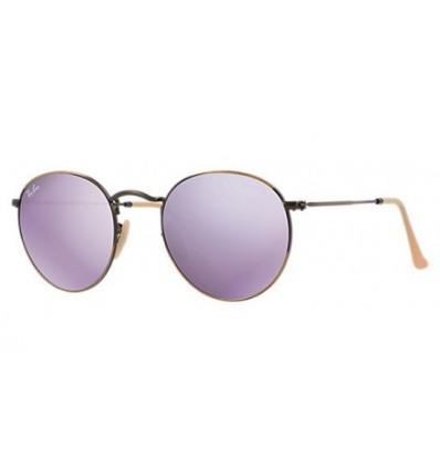 Gafas de sol RAY BAN 3447 ROUND METAL Cooper / Violet Mirror
