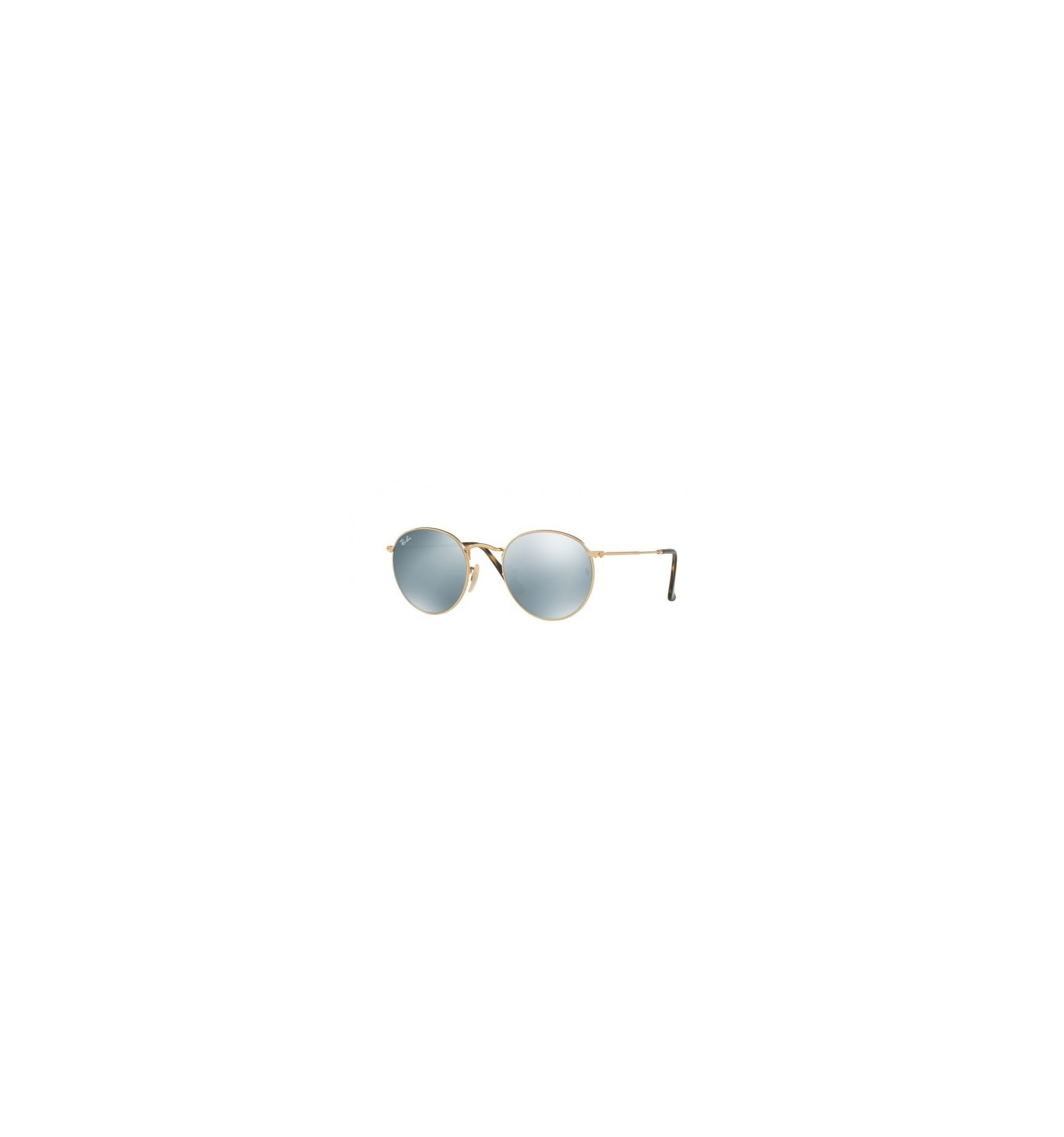 Gafas de sol RAY BAN 3447 ROUND METAL Gold   Grey Mirror 18f430710da3