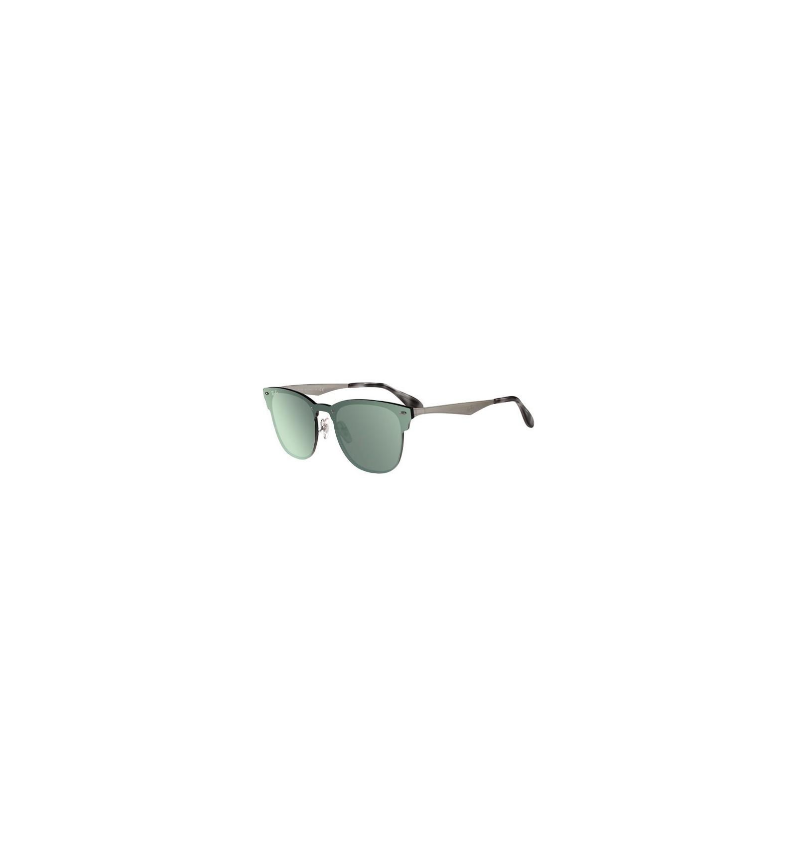 31cfe8ecc8933 Gafas de sol RAY BAN RB3576 Blaze Clubmaster silver - Green Mirror