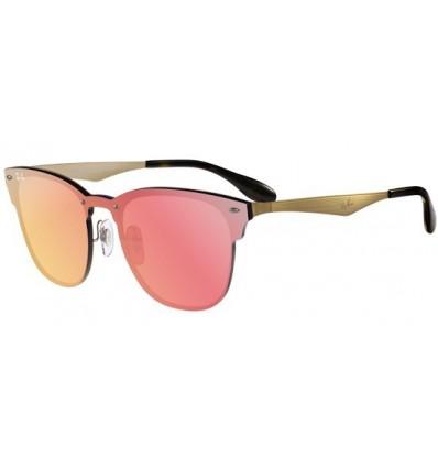 Gafas de sol RAY BAN RB3576 Blaze Clubmaster Gold - Pink Mirror