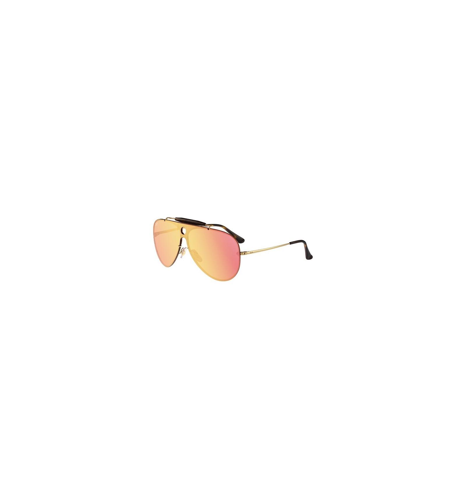 b2d38eea045f2 Gafas de sol RAY BAN RB3581 Blaze Shooter Gold - Pink Mirror