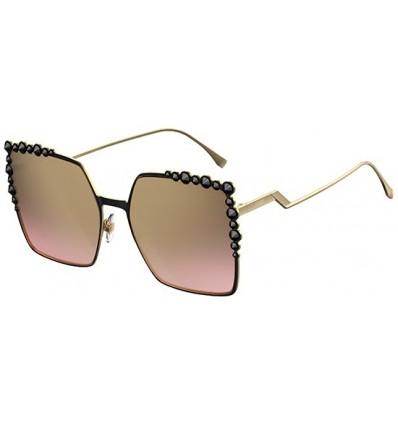 Gafas de sol Fendi Can Eye Black Gold - Brown Shaded Pink