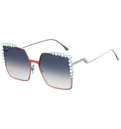 Gafas de sol Fendi Can Eye Orange Silver - Grey Blue Shaded