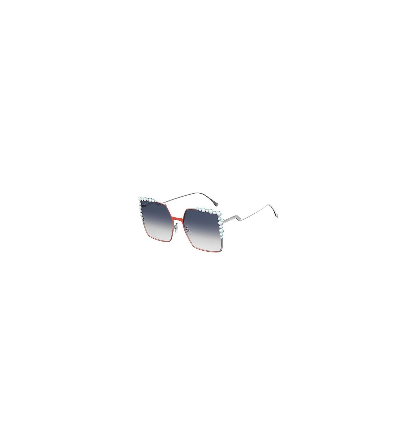 64cc5d333e Gafas de sol Fendi Can Eye Orange Silver - Grey Blue Shaded. Compra ...