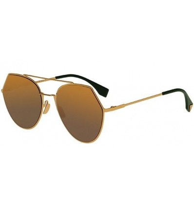 Gafas de sol Fendi Can Eye Aqua Gold - Green Shaded