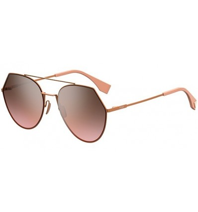 Gafas de sol Fendi Eyeline Light Pink - Grey Brown Shaded Pink