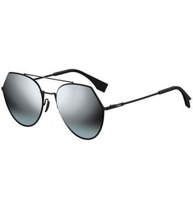 Gafas de sol Fendi Eyeline Black - Silver Grey Shaded Dark Green