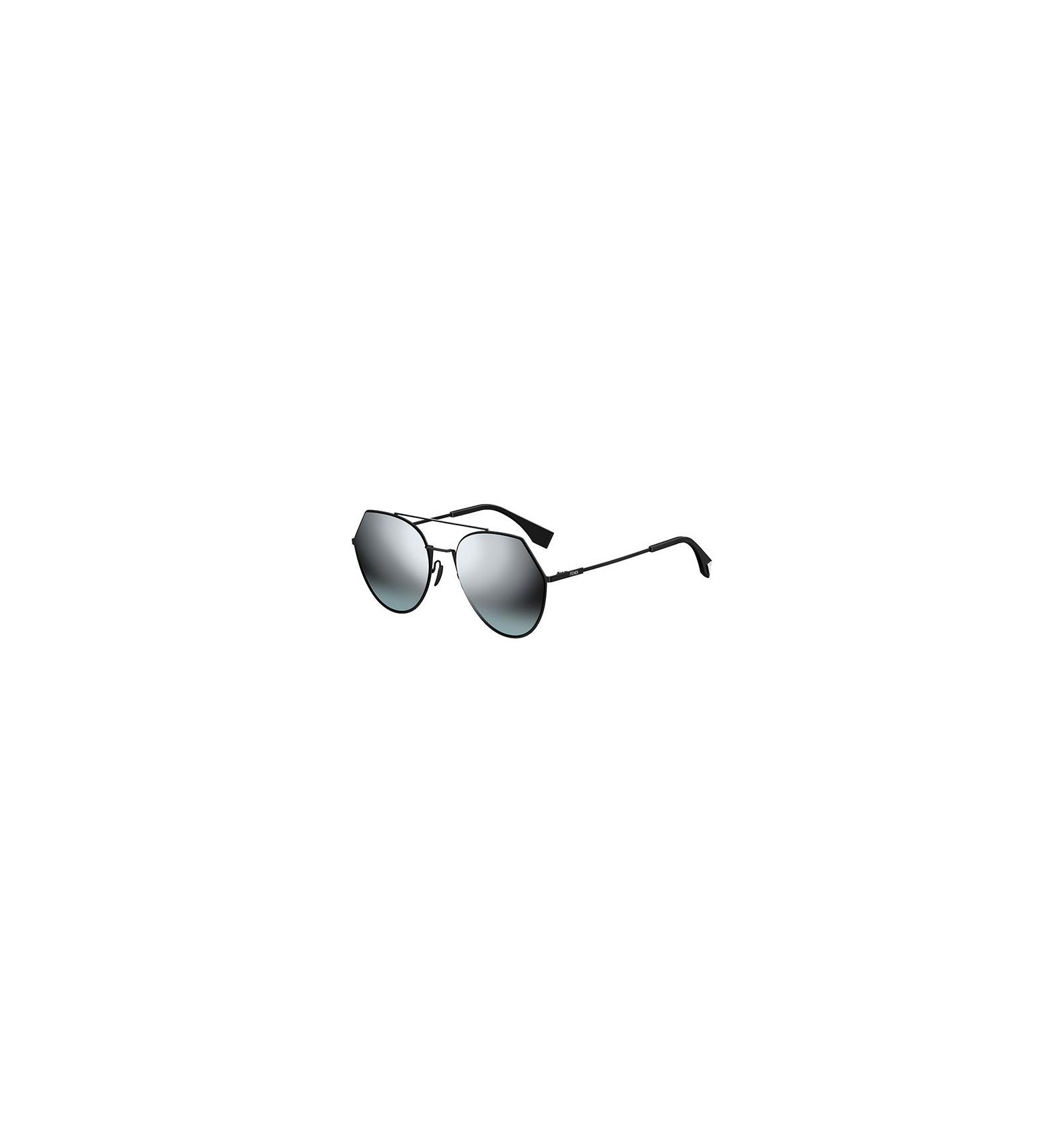 f8d72d6f2f05e Gafas de sol Fendi Eyeline Black - Silver Grey Shaded Dark Green.