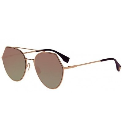 Gafas de sol Fendi Eyeline Rose Gold - Dark Green Fuchsia
