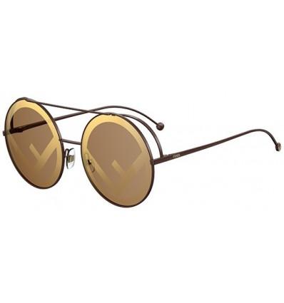 Gafas de sol Fendi Can Eye Aqua Gold - Green Shaded
