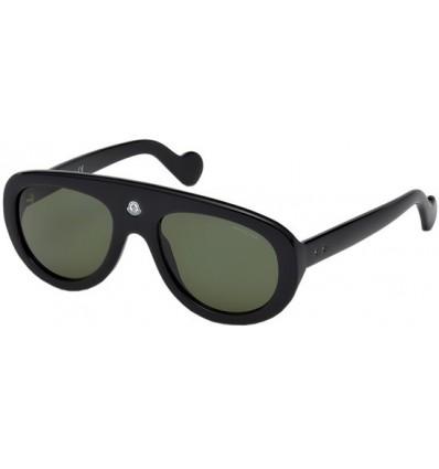 Gafas de Sol Moncler ML0001 Blanche shiny black - green (01R)
