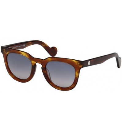 Gafas de Sol Moncler ML0008 Striped Brown - Smoke Shaded (45C)