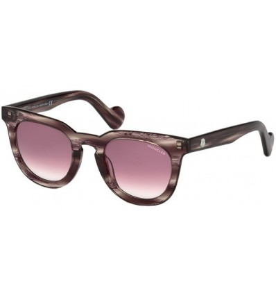 Gafas de Sol Moncler ML0008 Striped Violet - Burgundy Shaded (81T)