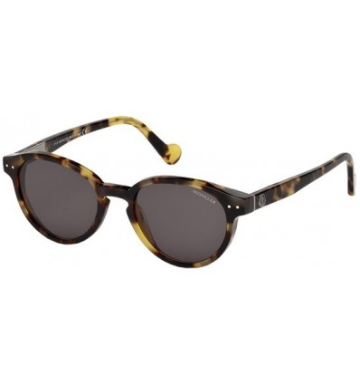 Gafas de Sol Moncler ML0001 Blanche shiny black-green (01R)