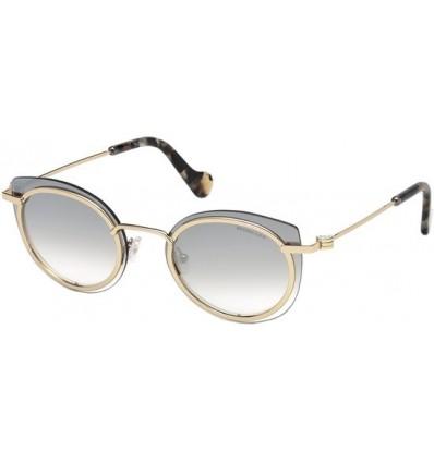 Gafas de Sol Moncler ML0001 Blanche shiny black-green (01R)