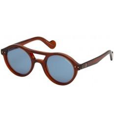 Gafas de Sol Moncler ML0037 Shiny Light Brown - Blue (45V A)