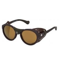 Gafas de Sol Moncler ML0046 Matte Dark Brown - Brown (49L)