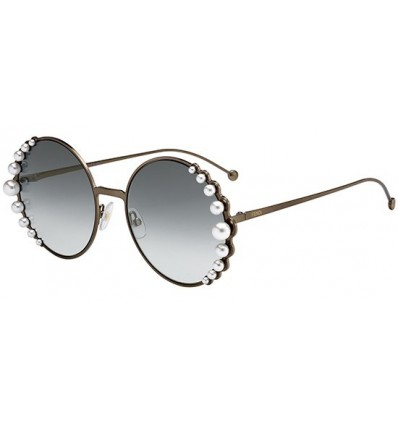 Gafas de sol Fendi Ribbons and Pearls Copper - Grey Shaded (J7D-EZ)