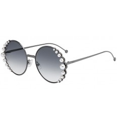 Gafas de sol Fendi Ribbons and Pearls Light Ruthenium - Grey Shaded (KJ1-9O)