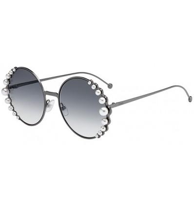 Gafas de sol Fendi Ribbons and Pearls Light Ruthenium - Grey Shaded (KJ1-9O)