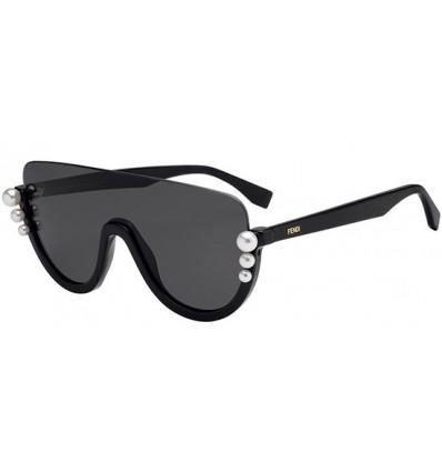 Gafas de sol Fendi Ribbons and Pearls Black - Dark Grey (807-IR)