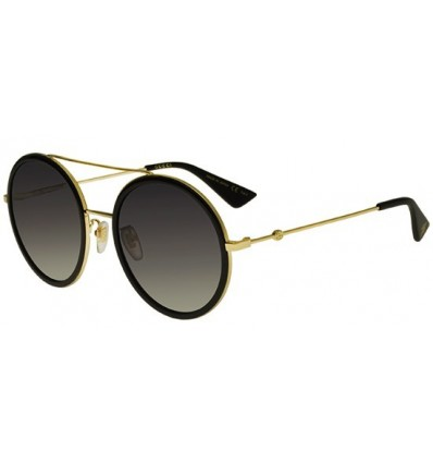 Gafas de Sol GUCCI GG0061S Black Gold - Grey Shaded (001)