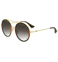 Gafas de Sol GUCCI GG0061S Red Striped Green Gold - Grey Shaded (003)