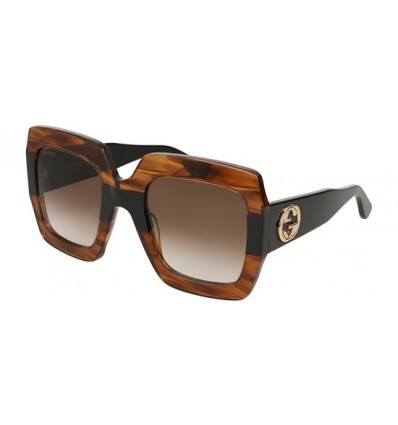 Gafas de Sol GUCCI GG0178S Striped Brown - Brown Shaded (004)