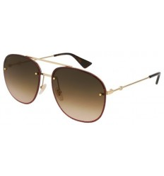 Gafas de Sol GUCCI GG0227S Gold Glitter Red - Brown Shaded (003)