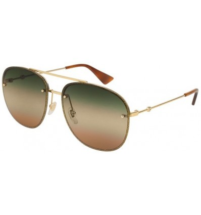 Gafas de Sol GUCCI GG0227S Glitter Gold - Green Shaded Brown (004)