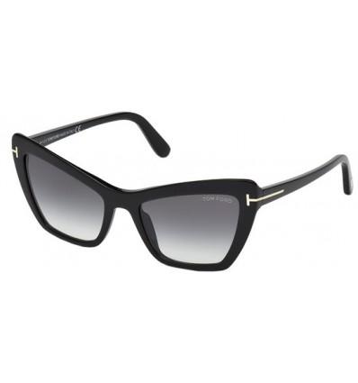 Gafas de Sol Tom Ford FT0555 VALESCA Black - Grey Green Shaded (01B)