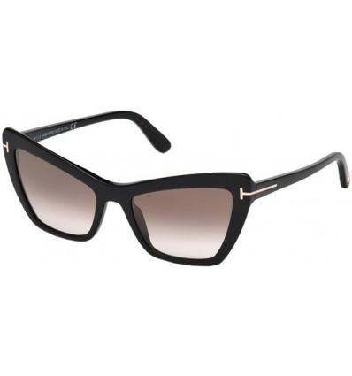 Gafas de Sol Tom Ford FT0555 VALESCA Black - Dark Brown Shaded (01G D)