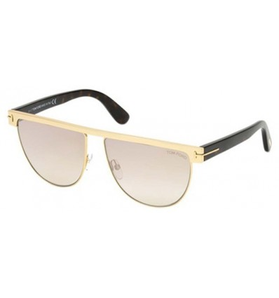 Gafas de Sol Tom Ford FT0570 STEPHANIE Shiny Rose Gold- Light Brown Pink (28G M)