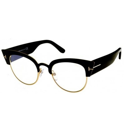 Gafas de Sol Tom Ford FT0607 ALEXANDRA Mate Black - Blue Look Lenses (005 A)