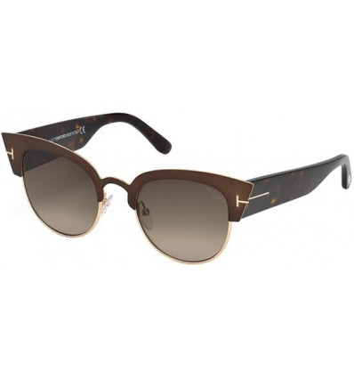 Gafas de Sol Tom Ford FT0607 ALEXANDRA Dark Brown - Brown Shaded (50K E)