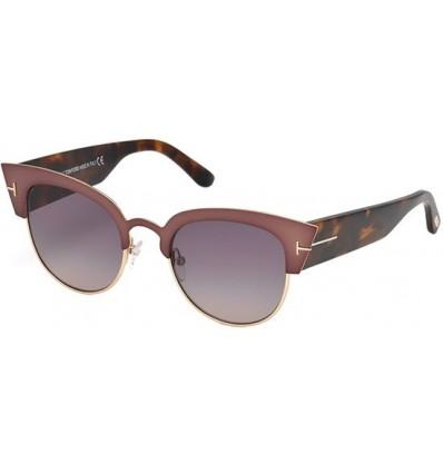Gafas de Sol Tom Ford FT0607 ALEXANDRA Pink Violet - Smoke Purple Shaded (74B E)