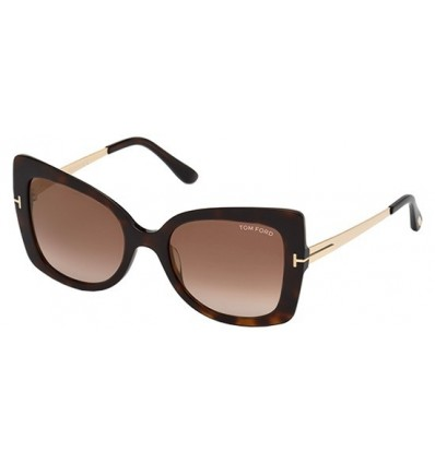 Gafas de Sol Tom Ford FT0609 GIANNA Dark Havana - Brown Shaded (52G A)
