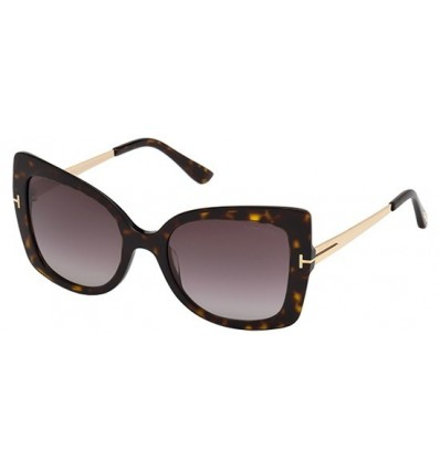 Gafas de Sol Tom Ford FT0609 GIANNA Havana - Burgundy Shaded (52T A)